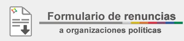 Logo renuncia militante